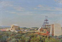 Harold Harvey (British 1874- 1941)The lady, Wheal Reeth Tin Mine, Breage