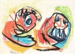 λ Karel Appel (Dutch 1921-2006)Two figures