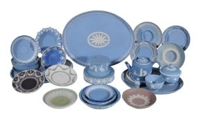 A selection of Wedgwood pale-blue Jasper, mostly late 18th/early 19th century, including three