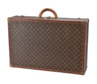 Louis Vuitton, Monogram, a coated canvas and leather hard suitcase, with leather trim, loop handle