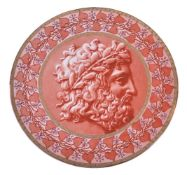 Doulton & Co., Lambeth, an earthenware large wall plaque, circa 1880, with a classical profile