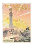 Gaston de Fonseca (Brazilian, 1874-1954) 12e Salon de L'Automobile et du Cycle, Paris 1910 Poster on