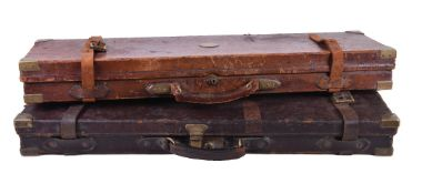 ϒ A Victorian leather, brass-bound, and oak lined gun case, J. Purdey, circa 1865, for a single gun,