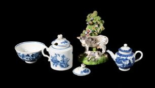 A selection of English porcelain, various dates, last quarter 18th/first quarter 19th century,