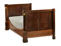 An Empire mahogany and ormolu mounted lit-en-bateau