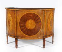ϒ A walnut, satinwood and specimen marquetry commode