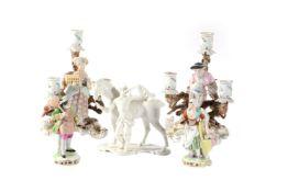 An assortment of German porcelain
