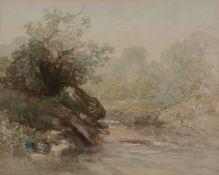 Follower of David Cox Senior (1783-1859) Study of a Rocky Stream