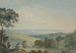 Nicholas Pocock (British 1740-1821) The Strait of Menai, Caernarvonshire