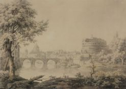 Jonathan Skelton (British c. 1735-1756)View of Rome with Castel Sant'Angelo
