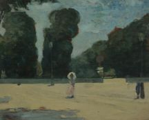 Sir Gerald Festus Kelly (British 1879-1972) In the Luxembourg Gardens