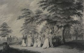 After Edward Dayes An Airing in Hyde Park; The Promenade in St. James's Park