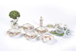 A selection of Continental porcelain