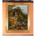 Joseph Paul Pettit (British 1812-1882)Sawmill on the bank of a river