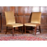 Two similar George III mahogany chairs