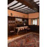 A Charles I oak hall table