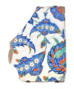 An Iznik glazed fritware tile fragment Ottoman Turkey second half of 16th century