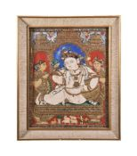 A Tanjore painting depicting Balakrishna South India 19th century