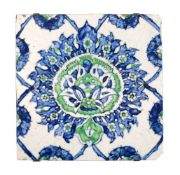 A Kütahya glazed fritware tile Ottoman Turkey 18th century