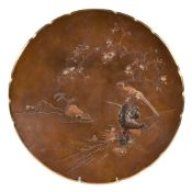 A Japanese Bronze Dish by Inoue Kichibei of Kyoto