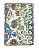 A Damascus glazed fritware tile Ottoman Syria circa 1570-1580