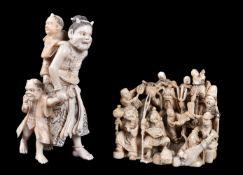 ϒ A Japanese ivory Okimono of Oni