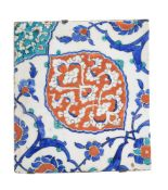 An Iznik glazed fritware tile Ottoman Turkey mid 16th century