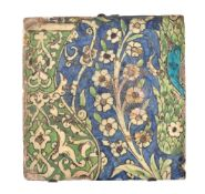A Damascus glazed fritware tile Ottoman Syria early 17th century