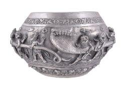A Burmese silver 'thabeit' bowl late 19th century