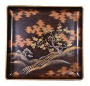 A Japanese Lacquer Bon (Robe Tray)