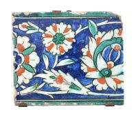 An Iznik glazed fritware border tile section Ottoman Turkey circa 1600