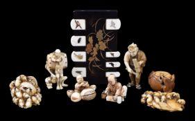 ϒ Masamitsu: An Ivory Netsuke depicting a swarm of rats