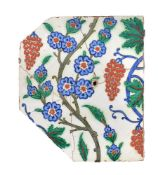 A Iznik polychrome glaze fritware tile fragment Ottoman Turkey second half of 16th century