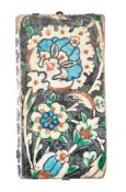 An Iznik glazed fritware border tile Ottoman Turkey circa 1600