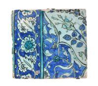 A Damascus glazed fritware tile Ottoman Syria circa 1600