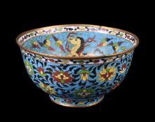 A Chinese cloisonné bowl