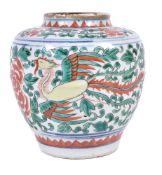 A Chinese 'Wucai' jar