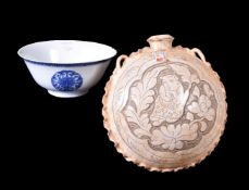 A pair of Chinese blue and white bowls