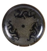 A Chinese Song style 'Dragon' pottery dish