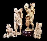 ϒ An Japanese Ivory Figure of a Sarumawashi