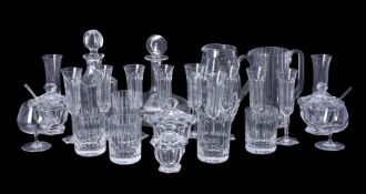 A group of Baccarat clear drinking glass