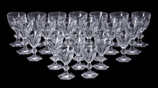 A Baccarat glass part table service 'Harcourt' pattern