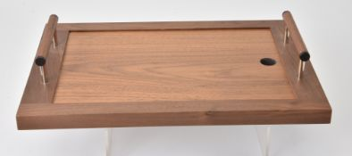 David Linley, An American walnut and glass inset cheese board