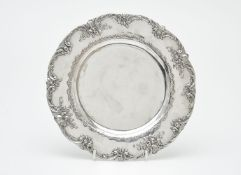 A German silver shaped circular plate by Georg Roth & Co.