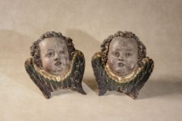 Manner of Michel Erhart, (German, circa 1440- 1520), a pair of south German or Tyrolean carved and p