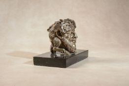 An Italian Grand Tour gilt bronze grotesque inkwell