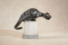 A north Italian bronze model of a dragon