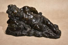 After Giovanni Bonazza, (Italian 1654 - 1736), a bronze model of the young Bacchus,