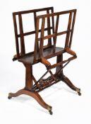 ϒ A Regency rosewood folio stand
