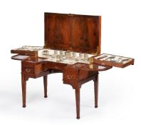 A mahogany and gilt metal mounted dressing table